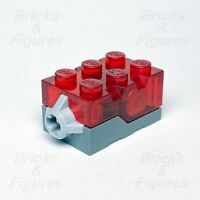 LEGO® Trans-Red Top Red LED Glow Electric Light Brick 2 x 3 x 1 1/3 Genuine Part
