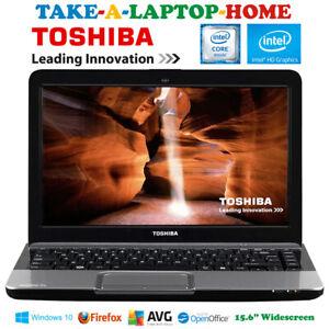 "Toshiba Satellite Pro Laptop Windows10 Pro 15.6"" 500Gb WiFi BT Webcam HDMI DVDRW"