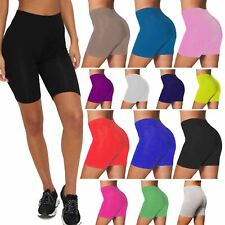 Ladies Cycling Cotton Stretch Summer Bike Short Womens Active Sports Leggings