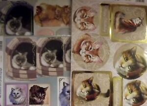 Craft UK Cats / Cat Die Cut Toppers & Decoupage - various designs