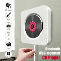 Bluetooth MP3 Wall Mounted CD Player USB FM Radio Music Player Remote Control
