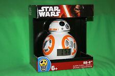 HTF BB-8 Alarm Clock Star Wars Force Awakens BB8 Lights Up!