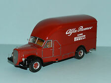 "Exoto 1/43 1950 Alfo Romeo 500 Race Car Transporter ""Alfa Romeo"" Red MiB"
