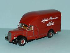"Exoto 1/43 1950 Alfo Romeo 500 Race Car Transporter ""Alfa Romeo"" Red MiB"