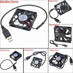 50/60/80/120mm DC 5V USB Cooling Fan Computer Case Silent Lüfter  PC Cooler Fan
