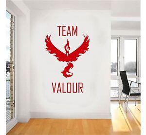 Pokemon Go Team VALOUR Symbol Wall Art Stickers decal design