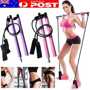 Exercise Pilates Bar Kit with Resistance Band Pilates Stick Toning Bar Portable