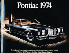 1974 Pontiac 16-page Brochure Catalog - Grand Ville Catalina Ventura Lemans Am