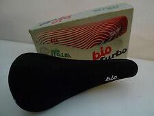 Classico VINTAGE 80'S SELLE ITALIA Turbo BIO neri in pelle scamosciata SELLA 4 colnago bianchi