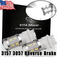 2x 3157 3156 White 10W High Power 5730 Chip LED Backup Reverse Light Bulbs 12V