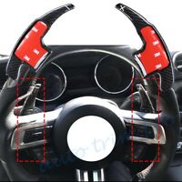 For Ford Mustang 15-17 Steering Wheel Shift Paddle Shifter Extended Carbon Fiber