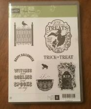 Stampin' Up! Toxic Treats Witch Raven Cauldron Halloween Gate Rubber Stamp Set