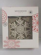 Wedgwood, Noël givré de flocon de neige Décoration. En parfait état, dans sa boîte TRÈS RARE, MAGNIFIQUE.