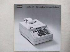 WALTHER Multa 33 Original Prospekt - Sales Brochure - Rarität - Rare