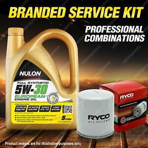 Ryco Oil Filter 5L EURO5W30 Engine Oil Kit for Audi A1 8X A3 8V A4 B9