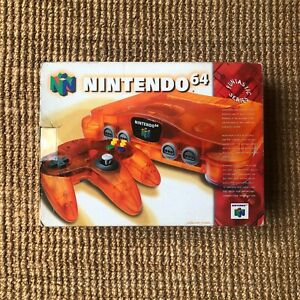Nintendo 64 N64 Console Fire Orange Funtastic Complete With Original Box EX!