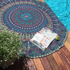 Hippie Ombre Mandala Tapestry Indian Wall Hanging Beach Throw Yoga Mat Decor New