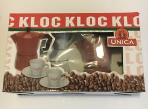 Espresso Coffee Maker Kloc 3 UNICA Includes 3 Cup Color Reed espresso maker Whit