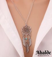Collar Colgante Amuleto Atrapasueños Suerte Plata Moda Regalo Para Mujer Amor
