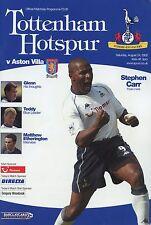 Tottenham Hotspur v Aston Villa 24/08/2002 B5