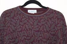 Tricots St. Raphael -Saks -Brilliant Men's Paisley Crewneck Sweater Sz S