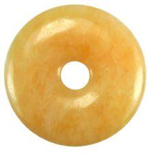 Orangencalcit Aragonit Donut Anhänger Edelstein 40 mm Scheibenstein Heilstein