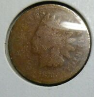 1873  Indian Head Penny Cent  Coin  #1873