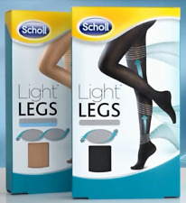 4x Scholl Light Legs Womens Compression Tights Boosts Circulation 20 Den Nude