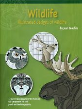 NEW! Wildlife Animals Stained Glass Pattern Book, Eagle, Owl, Fox, Moose, Bear,
