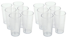 16OZ CLEAR 12PK Restaurant Break Resistant Drinking Glass Cups PLASTIC TUMBLERS