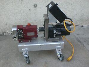 LOBEFLO POSITIVE DISPLACEMENT PUMP 120V 1.5'' TRI-CLMP FITTINGS