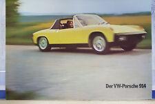 RARES PROSPEKT VW PORSCHE 914 D IN DEUTSCH TECHNISCHE DATEN  VSM 1034.10