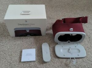 Google Daydream Day Dream View Crimson Red Virtual Reality VR Headset Boxed Mint
