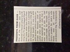 m5-2h ephemera 1974 film article small elvis presley jack lord