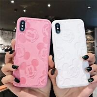 Hot Cartoon Minnie Mouse Soft leather Cover Case iPhone 7 8 Plus X XR 11 Pro Max