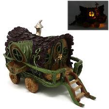 Gypsy Caravan Fiddlehead Miniature Fairy Garden Home Fairies House LED Ornament