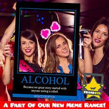 Alcohol Meme Cut Out Photo Booth Prop (60x90cm) Selfie Frame