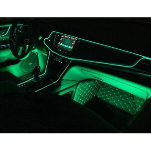 Green 2M Car Interior Atmosphere Lamp Cold LED Light Strip Cigarette Lighter