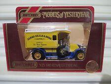 Matchbox Yesteryear Y25 1910 Renault Van James Neale Lt Blue Closed GrabHandles