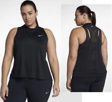 New Nike Women's Plus Size Top Tank XL/ XXL/XXXL /black/ gym/sleeveless/vest