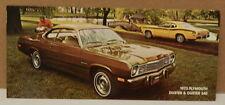 1973 73 CHRYSLER PLYMOUTH DUSTER DEALERSHIP POSTCARD MOPAR 340 DEALER PROMO