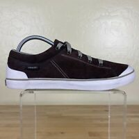 Teva Freewheel Suede Sneakers Womens Size 9.5 Lace Up Brown / White