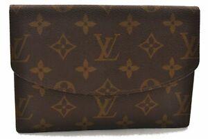 Authentic Louis Vuitton Monogram Pochette Rabat Clutch Bag Old Model LV 0599A