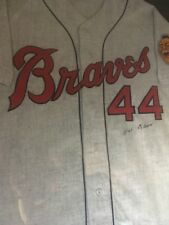 Hank Aaron Signed Cooperstown Collection Jersey