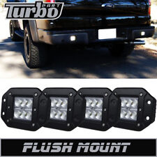 4X Auxiliary Flush Mount Bumper Led Lights Fog Lamp For Ford F150 F250 F350 F450