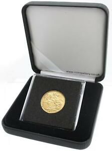 Deluxe Black Quadrum Case for displaying sovereign coins