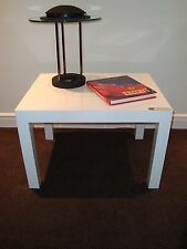 Thayer COGGIN Mid Century PARSONS table, glossy WHITE  - New Old Stock