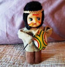 Yonezawa Wind up Young Indian Bow War Paint Arrow & Shield  and Body all move