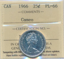 1966 25 cents in PL-66 Cameo, certified,