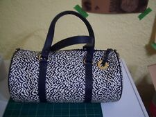 Adrienne Vittadini purse white and blue with matching smaller internal bag